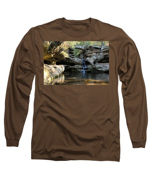Waterfall At Old Man Cave Long Sleeve T-Shirt