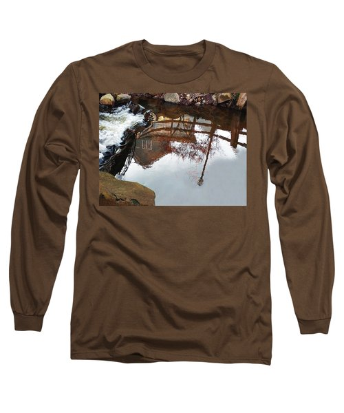 Waterfall From Calm Waters Long Sleeve T-Shirt