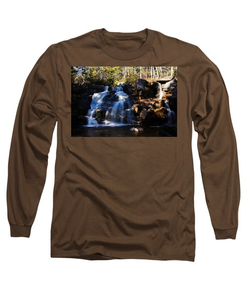 Waterfall, Whitewall Brook Long Sleeve T-Shirt