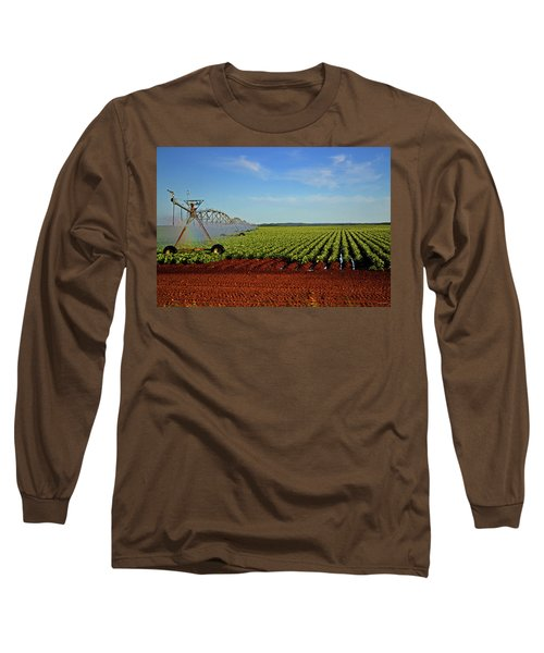 Long Sleeve T-Shirt featuring the photograph Watering The Garden 002 by George Bostian