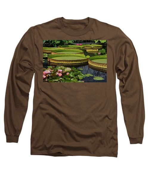 Waterlilies North And South Long Sleeve T-Shirt