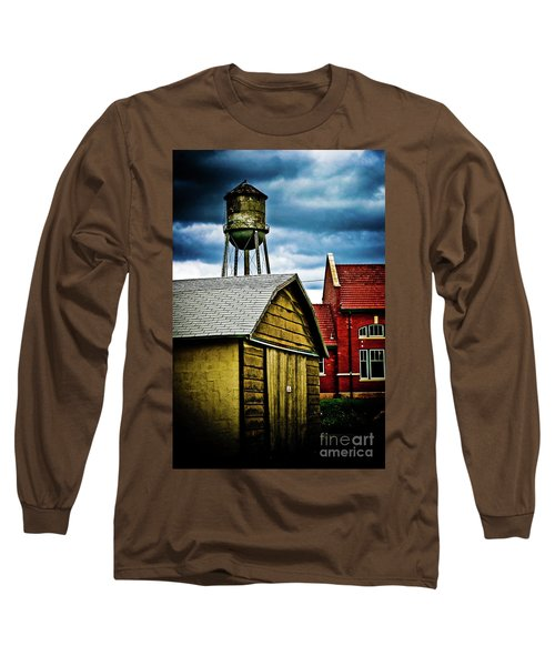 Waurika Old Buildings Long Sleeve T-Shirt by Toni Hopper