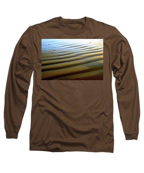Wave Patterns At Drake's Beach, Point Reyes National Seashore Long Sleeve T-Shirt