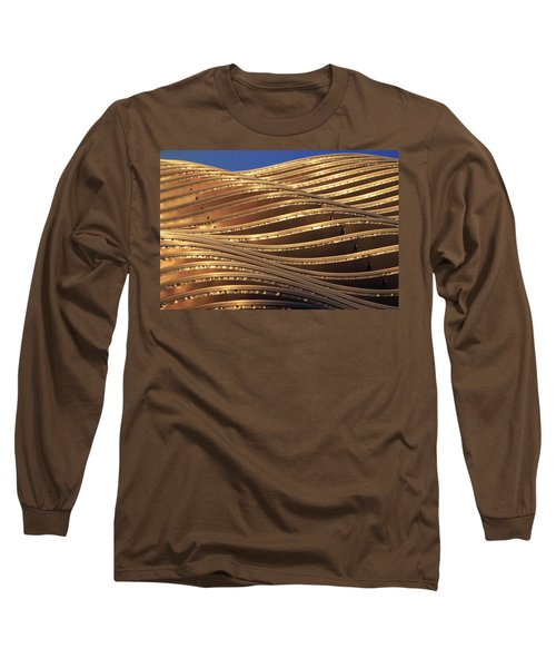 Waves Of Steel Long Sleeve T-Shirt by Christopher McKenzie