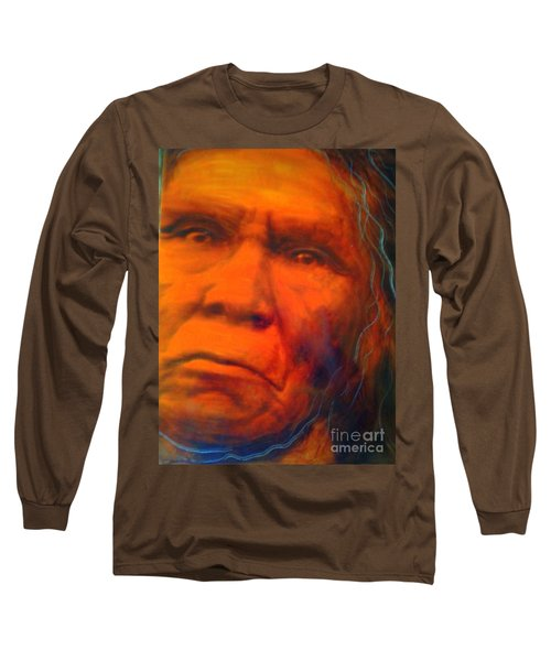 Long Sleeve T-Shirt featuring the painting We Are First Nation by FeatherStone Studio Julie A Miller