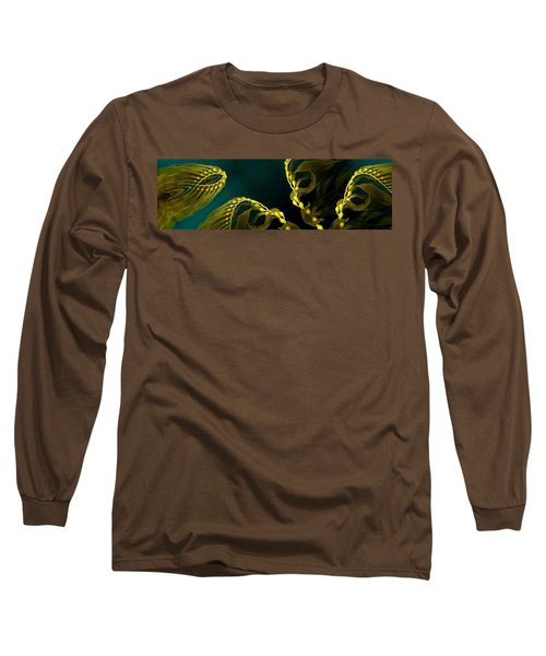 Long Sleeve T-Shirt featuring the digital art Weed 1 by Ron Bissett