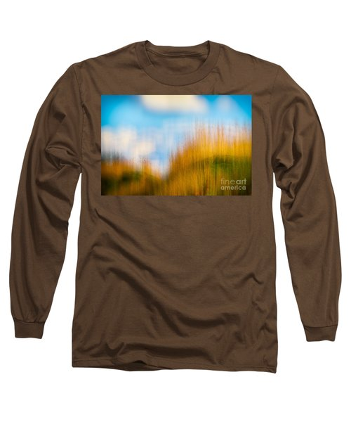 Weeds Under A Soft Blue Sky Long Sleeve T-Shirt