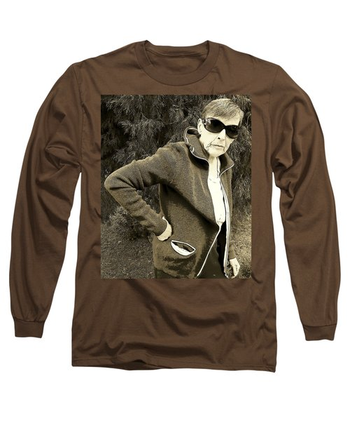 Long Sleeve T-Shirt featuring the photograph Well Are You Coming by Lenore Senior