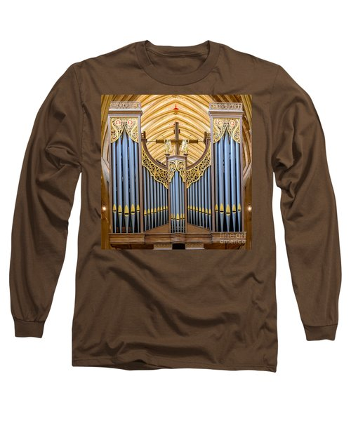 Wells Cathedral Organ Long Sleeve T-Shirt by Colin Rayner