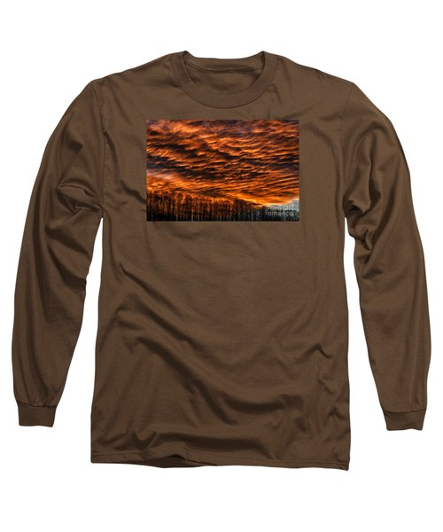 West Virginia Afterglow Long Sleeve T-Shirt by Thomas R Fletcher