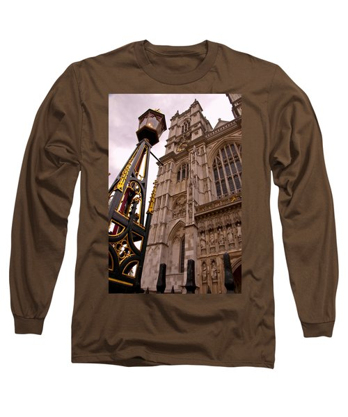 Westminster Abbey London England Long Sleeve T-Shirt by Jon Berghoff