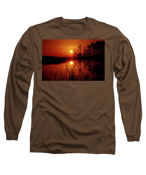 Long Sleeve T-Shirt featuring the photograph Wetland Sunset by Robert Geary