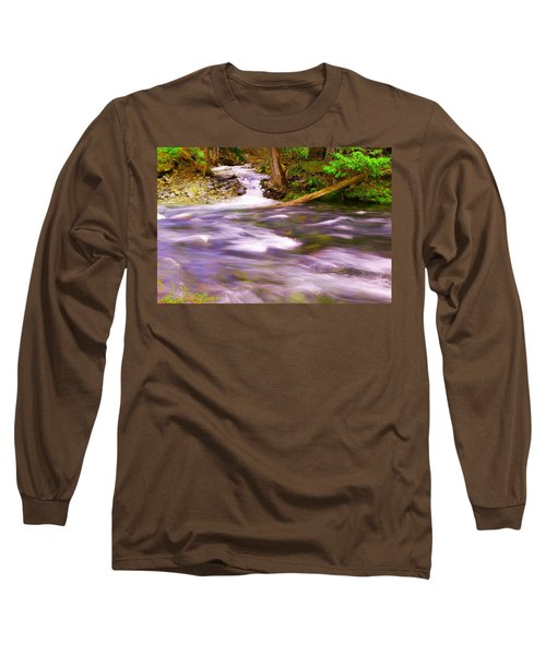 Long Sleeve T-Shirt featuring the photograph Where The Stream Meets The River by Jeff Swan