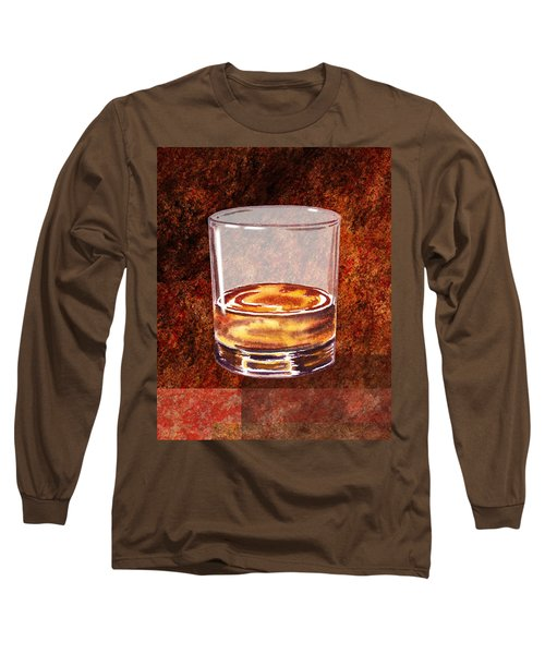 Whiskey Glass Long Sleeve T-Shirt
