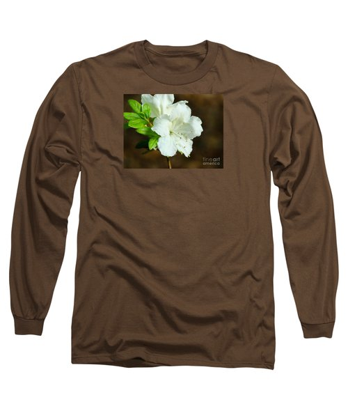Long Sleeve T-Shirt featuring the photograph White Azalea  by Rand Herron