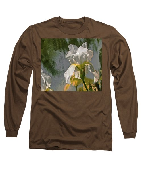 White Iris Long Sleeve T-Shirt