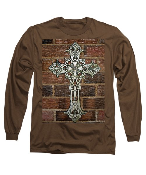 White Iron Cross 1 Long Sleeve T-Shirt