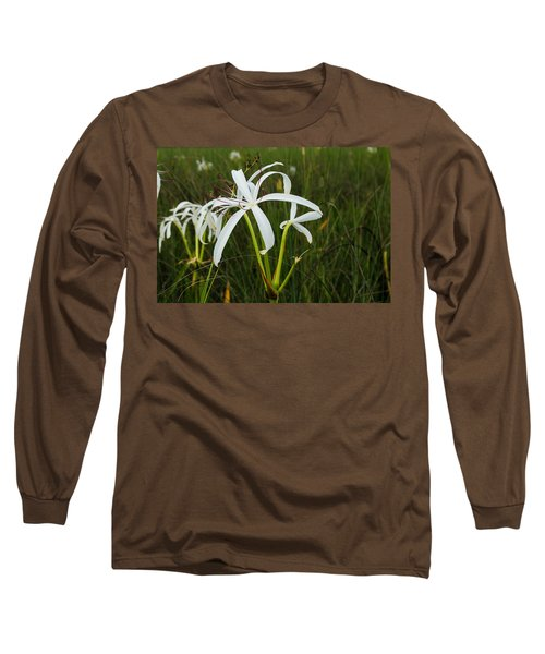 White Lilies In Bloom Long Sleeve T-Shirt