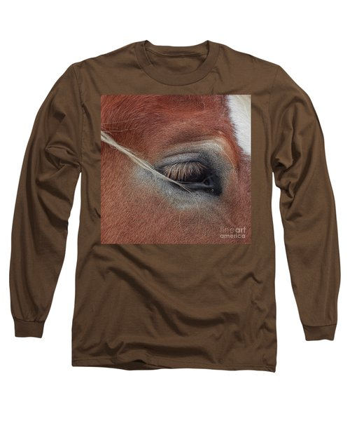 White Mane's Eye Long Sleeve T-Shirt