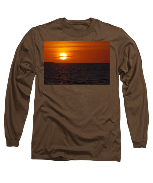 Long Sleeve T-Shirt featuring the photograph White Street Pier Sunrise by Greg Graham