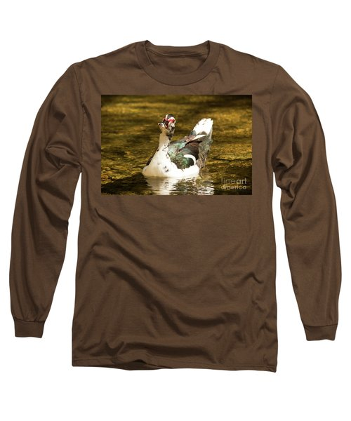 Who Me Wildlife Art By Kaylyn Franks Long Sleeve T-Shirt