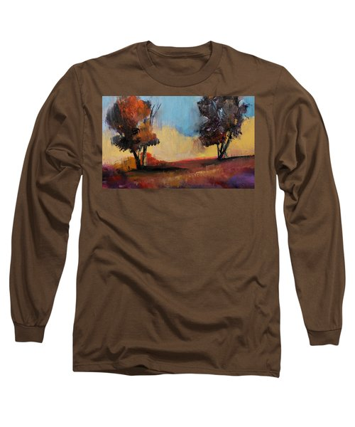 Wild Beautiful Places Trees Landscape Long Sleeve T-Shirt by Michele Carter