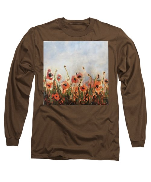 Wild Corn Poppies Underpainting Long Sleeve T-Shirt