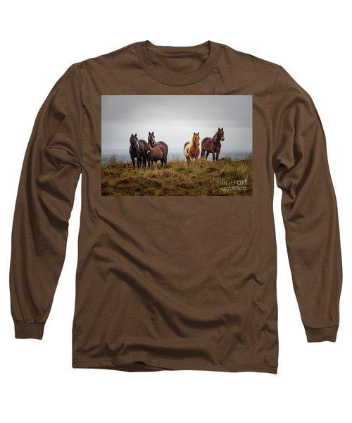 Wild Horses In Ireland Long Sleeve T-Shirt