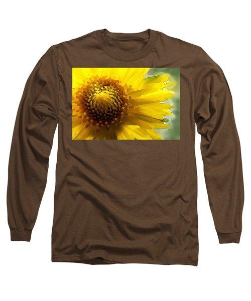 Wild Sunflower Up Close Long Sleeve T-Shirt