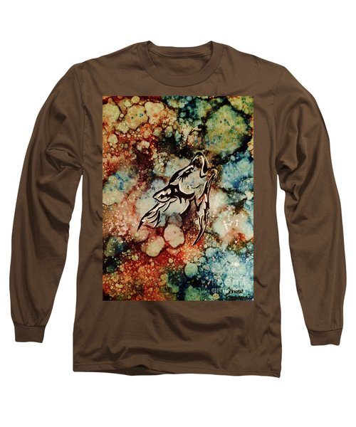 Long Sleeve T-Shirt featuring the painting Wilderness Warrior by Denise Tomasura