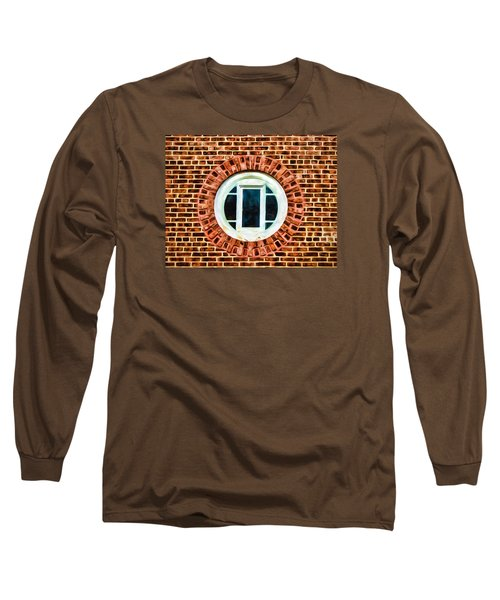 Window Shapes In And Around Long Sleeve T-Shirt by Gary Slawsky