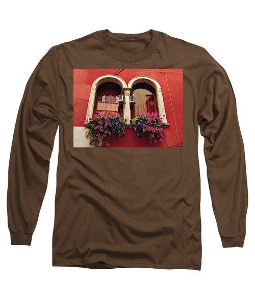 Windows In Venice Long Sleeve T-Shirt by Tamara Sushko