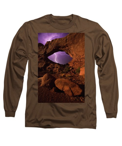 Long Sleeve T-Shirt featuring the photograph Windows Storm by Darren White