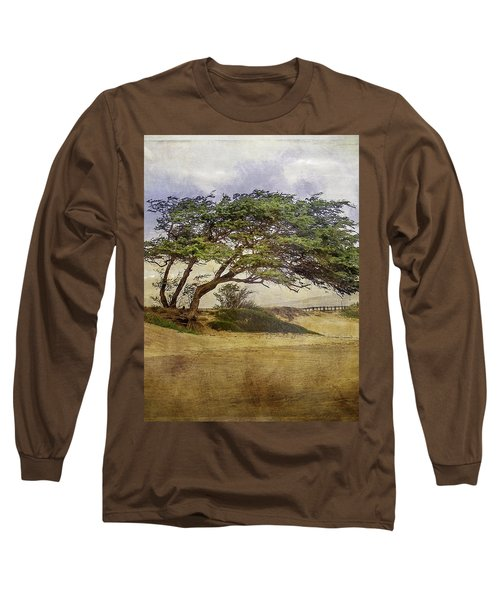 Long Sleeve T-Shirt featuring the photograph Windy Lean by Gena Weiser