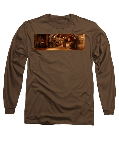 Wine Barrels In A Cellar, Buena Vista Long Sleeve T-Shirt
