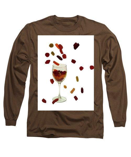 Long Sleeve T-Shirt featuring the photograph Wine Gums Sweets by David French