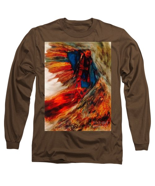 Long Sleeve T-Shirt featuring the painting Winged Ones by FeatherStone Studio Julie A Miller