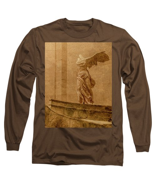 Paris, France - Louvre - Winged Victory Long Sleeve T-Shirt