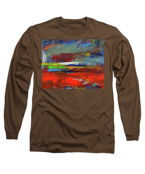 Long Sleeve T-Shirt featuring the painting Winter Beginnings by Walter Fahmy
