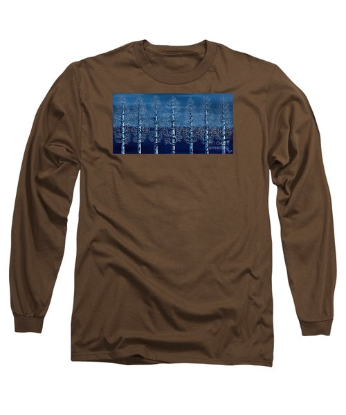 Winter Shadows Long Sleeve T-Shirt by Rebecca Parker