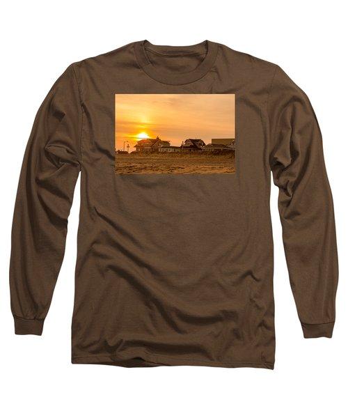 Winter Shore Sunset Long Sleeve T-Shirt