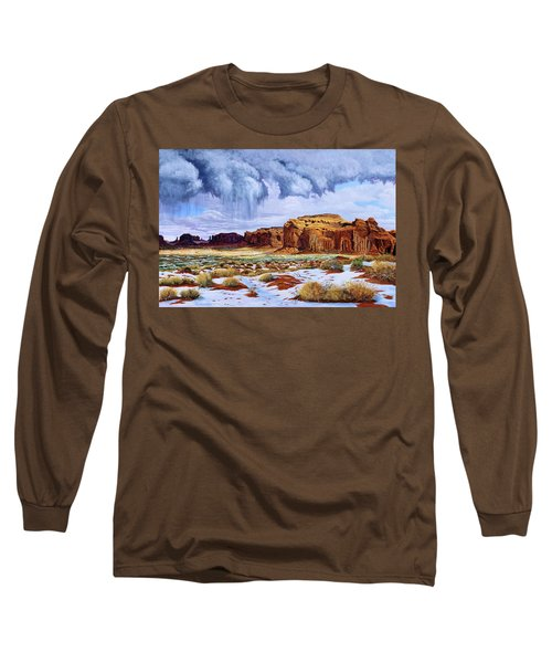 Winter Storm In Mystery Valley Long Sleeve T-Shirt