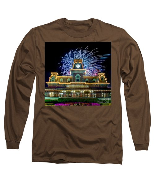 Wishes Over Magic Kingdom Train Station. Long Sleeve T-Shirt