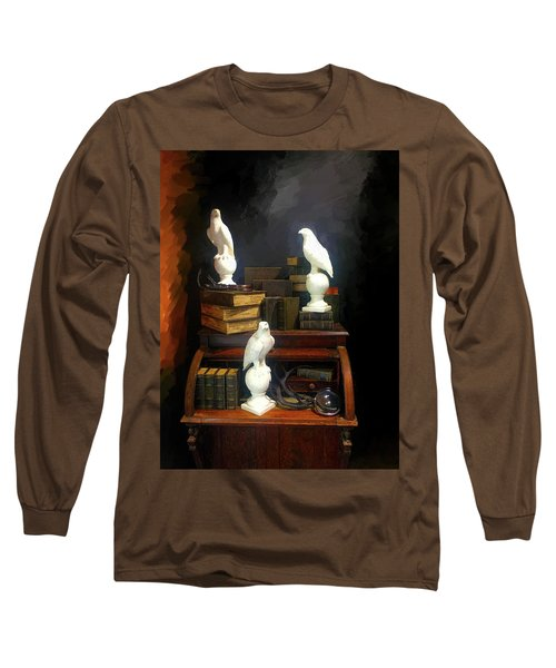 Wizards Library Long Sleeve T-Shirt by Enzie Shahmiri
