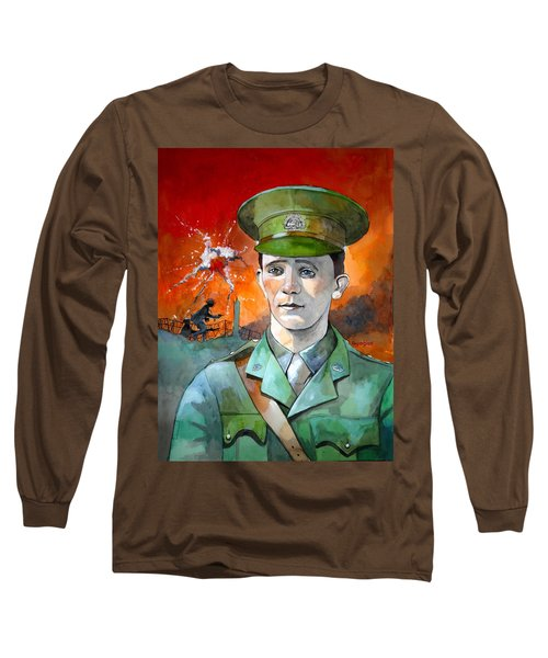 Long Sleeve T-Shirt featuring the painting W.j. Symons Vc by Ray Agius