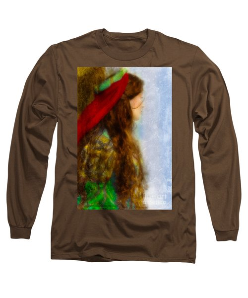Woman In Medieval Gown Long Sleeve T-Shirt
