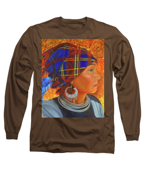 Woman In The Shadow Long Sleeve T-Shirt