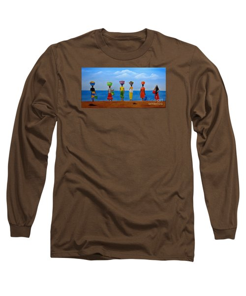 Women Of Africa  Long Sleeve T-Shirt by Bev Conover