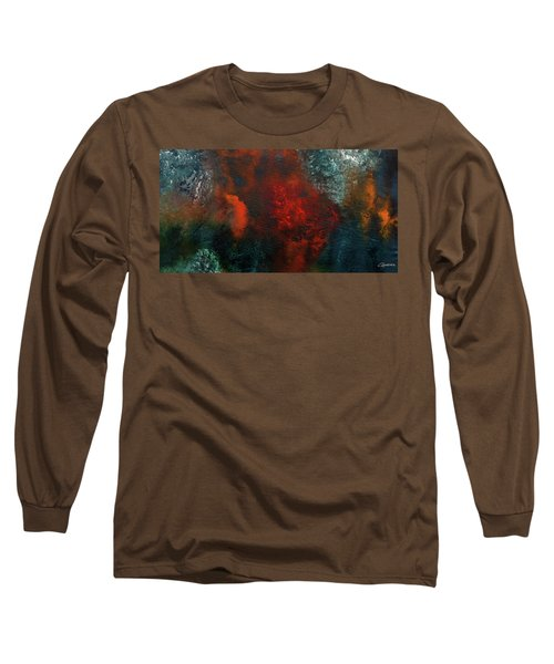 Long Sleeve T-Shirt featuring the painting Wonderland by Carmen Guedez