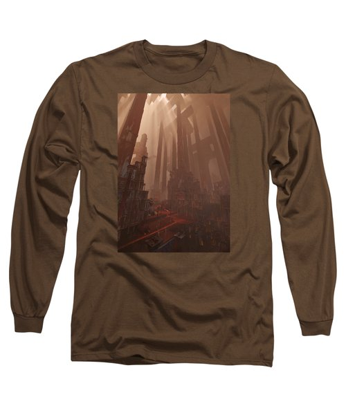 Wonders_temple Of Artmeis Long Sleeve T-Shirt by Te Hu
